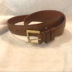 Brown Leather Coach Belt